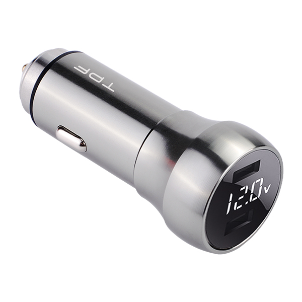 Multifunctional qc3.0 car charger aluminum car charger car accessories car phone charger